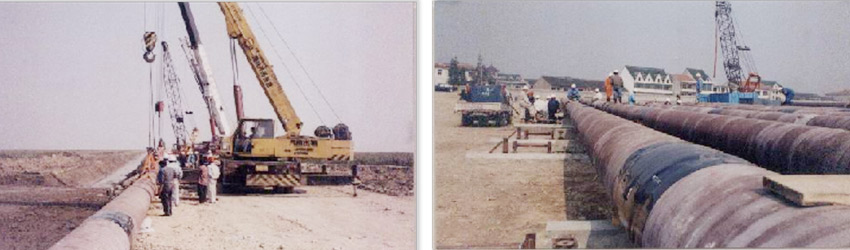 Sinopec Hangzhou Bay Submarine Pipeline Laying Project (Year 2003)