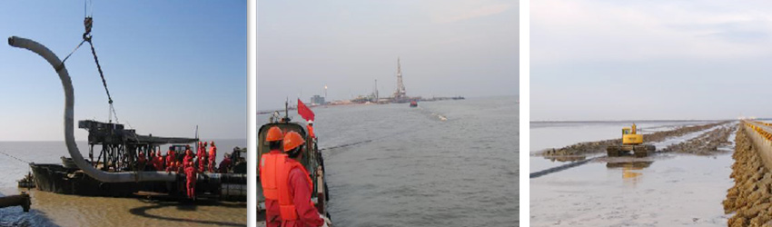 PetroChina Dagang Oil Field Chenghai 4X1 Submarine Pipeline Laying Project (Year 2007)