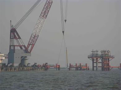 PetroChina Jidong Oil Field Nanpu No.1-3 Artificial Island Submarine Pipeline Laying Project (Year 2009)