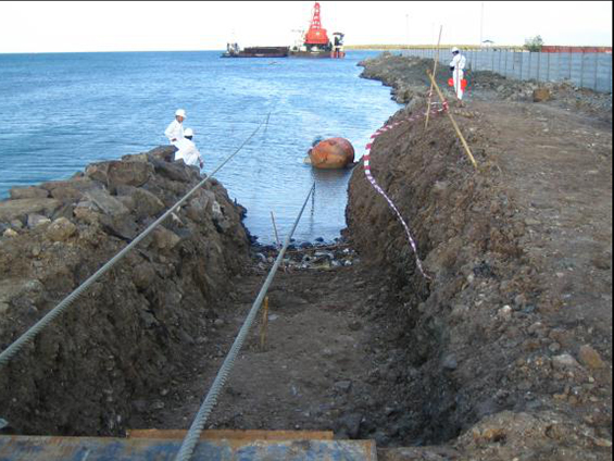 CNOOC Indonesia SES Gas Submarine Pipeline Landing Project (Year 2005)