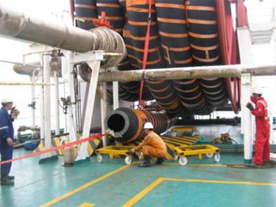 Floating Hose Inspection, Displace, Installation