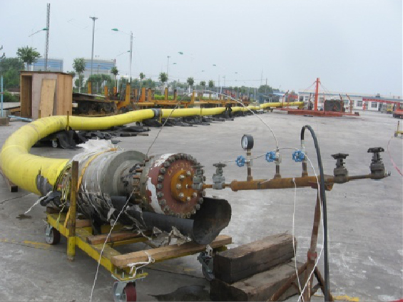 CFD11-2 Offshore Oil Field Jumper Hose and Cable Check, Repair and Installation between SPM and FPSO (Year 2007-2008)