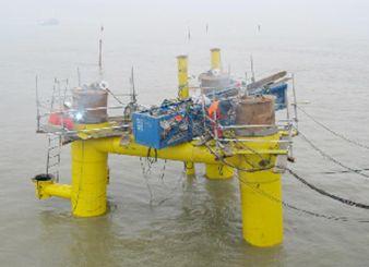 CNOOC Jidong Nanpu Oil Field No.1 and 2 Island Pipeline Jacket Fabrication, Transportation and Site Installation